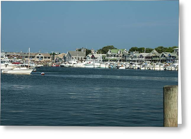 Nikon D90 Greeting Cards - Oak Bluff Harbor Greeting Card by Steven Natanson