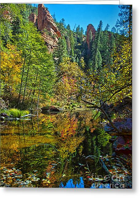 West Fork Greeting Cards - Oak Creek Beauty Greeting Card by Brian Lambert