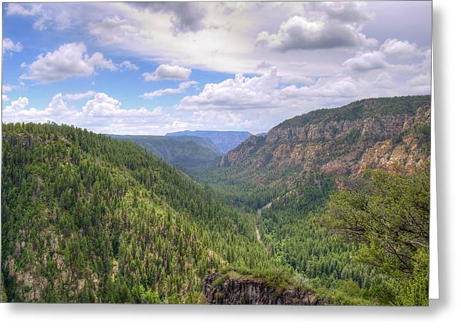 Oak Creek Greeting Cards - Oak Creek Canyon Greeting Card by Ricky Barnard