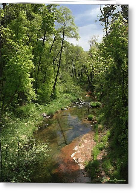 Oak Creek Paintings Greeting Cards - Oak Creek Greeting Card by Ellen Henneke