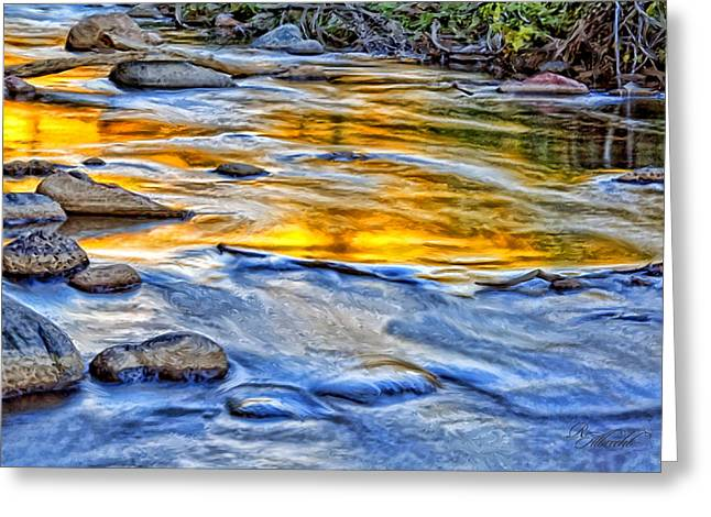 Western Western Art Greeting Cards - Oak Creek Reflections Greeting Card by Robert Albrecht