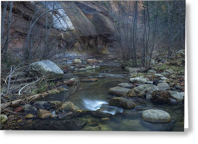 West Fork Greeting Cards - Oak Creek Greeting Card by Sue Cullumber