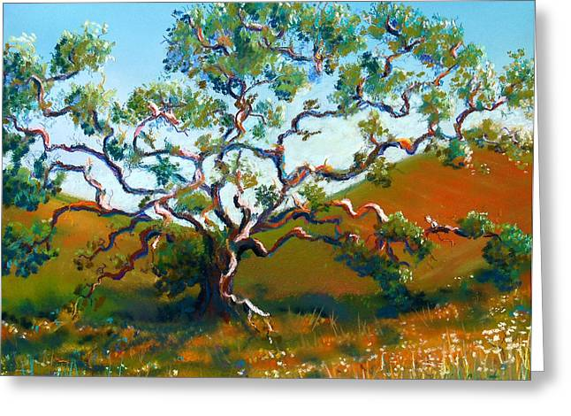 Tortuous Greeting Cards - Oak in Meadow Greeting Card by Robin Coats