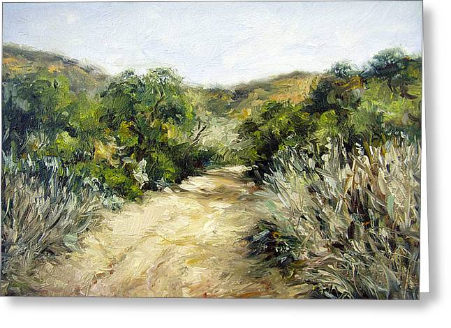 Stacy Vosberg Greeting Cards - Oak Path Greeting Card by Stacy Vosberg