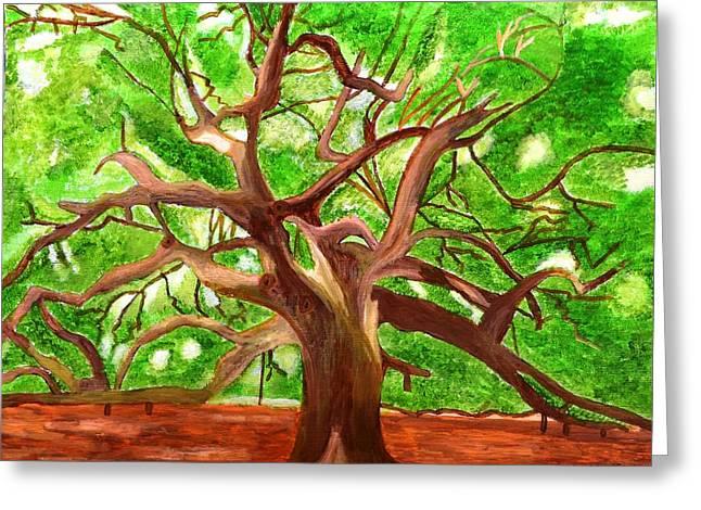 Magdalena Frohnsdorff Greeting Cards - Oak Tree Greeting Card by Magdalena Frohnsdorff