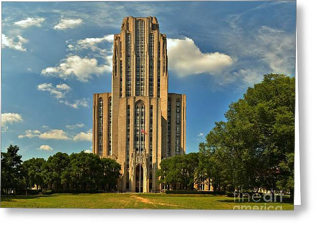 Cathedral Of Learning Greeting Cards - Oakland Cathedral Of Learning Greeting Card by Adam Jewell