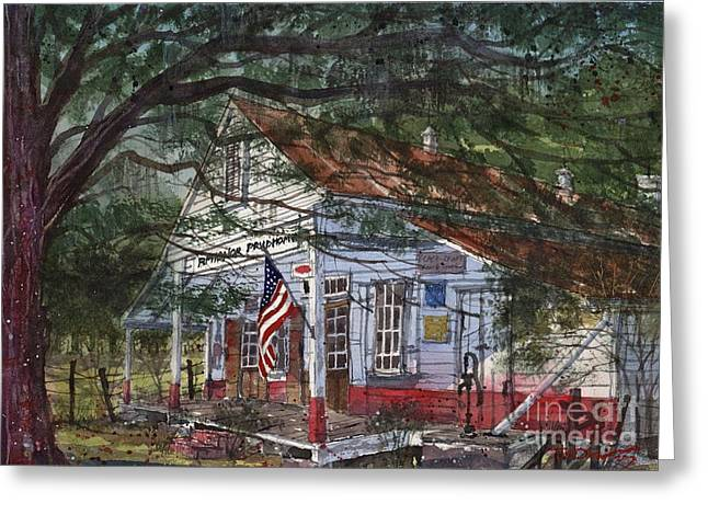Oakland Paintings Greeting Cards - Oakland Plantation Store Greeting Card by Tim Oliver