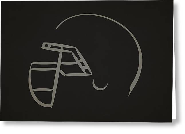 Nfl Greeting Cards - Oakland Raiders Helmet Greeting Card by Joe Hamilton