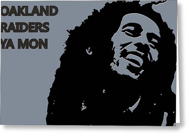 Drum Greeting Cards - Oakland Raiders Ya Mon Greeting Card by Joe Hamilton