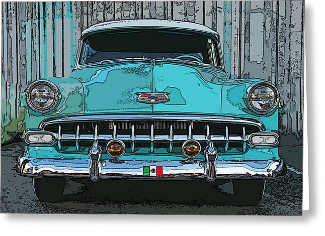 Samuel Sheats Greeting Cards - Oakland Street Cruiser Greeting Card by Samuel Sheats