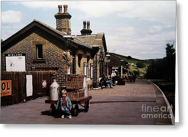 Most Viewed Greeting Cards - Oakworth Station Greeting Card by Martin Howard