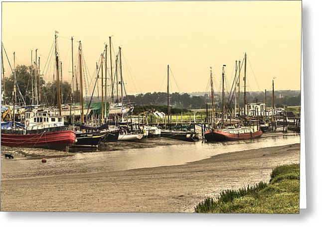 Fishing Creek Greeting Cards - Oare Creek Greeting Card by Ian Hufton