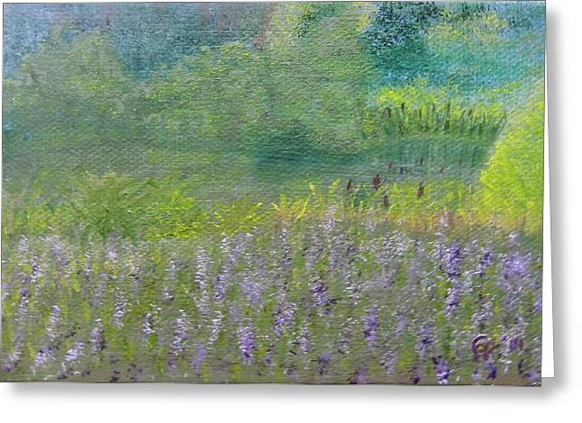 Harpers Ferry Paintings Greeting Cards - Oasis Greeting Card by Cathy Pierce Payne