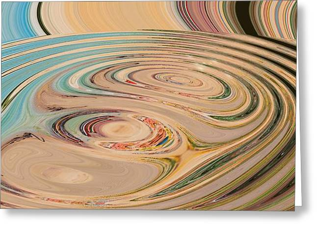 Abstract Rose Oval Greeting Cards - Oasis Greeting Card by Loredana Messina