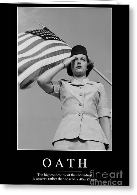 Oath Greeting Cards - Oath Inspirational Quote Greeting Card by Stocktrek Images