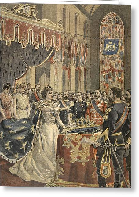 Royalty Greeting Cards - Oath Of Constitution Of Queen Wilhemina Greeting Card by French School