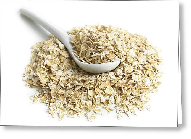 Oats And A Spoon Greeting Card by Science Photo Library