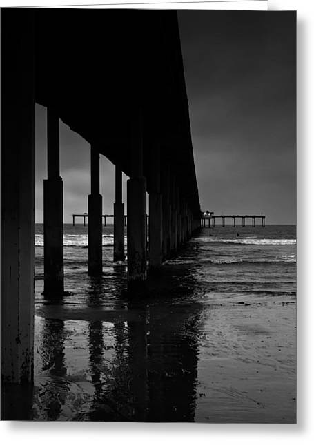 Locations Greeting Cards - OB Pier Greeting Card by Peter Tellone
