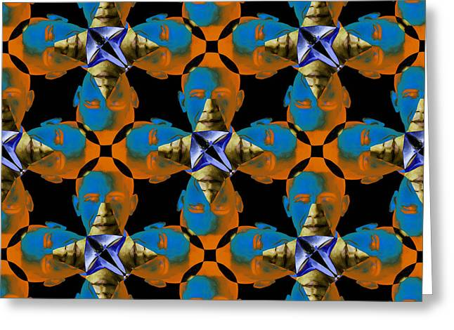 Obama Abstract 20130202p28 Greeting Card by Wingsdomain Art and Photography