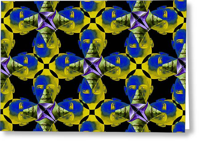 Obama Abstract 20130202p55 Greeting Card by Wingsdomain Art and Photography