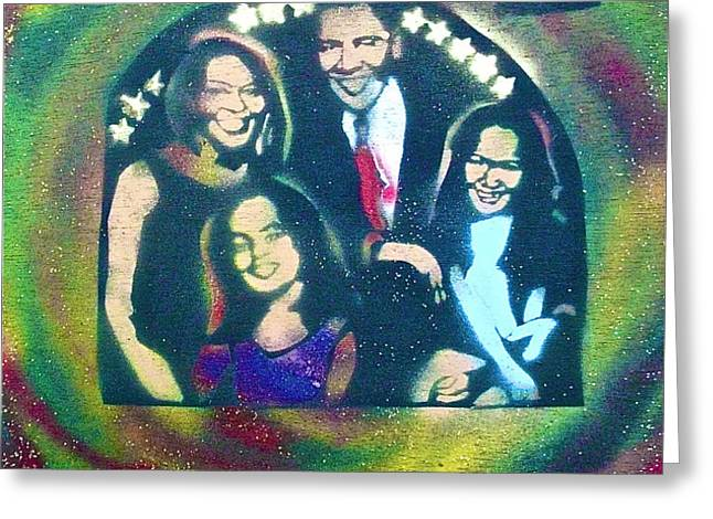Obama Family Victory Greeting Card by TONY B CONSCIOUS