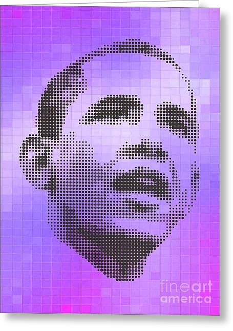 President Obama Greeting Cards - Obama On Velvet Tiles Greeting Card by Rodolfo Vicente