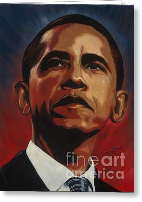 Obama Greeting Card by Viveca Mays