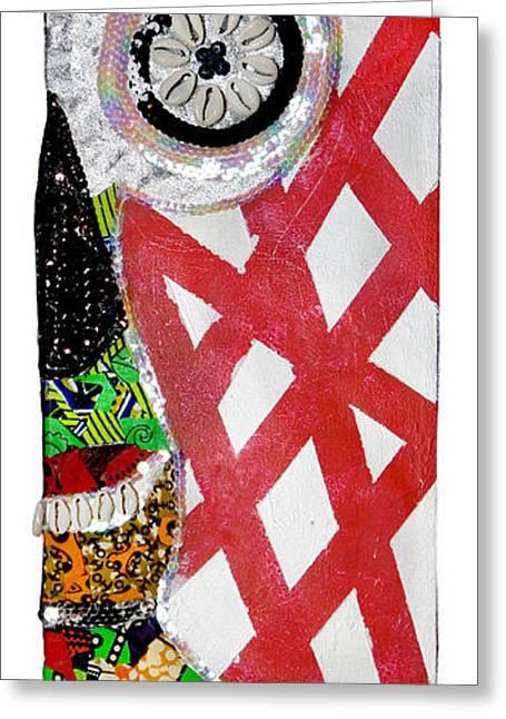 Religious Mixed Media Greeting Cards - Obaoya Greeting Card by Apanaki Temitayo M