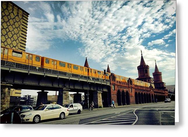U-bahn Photographs Greeting Cards - Oberbaumbrucke Greeting Card by Sabrina Greatheart