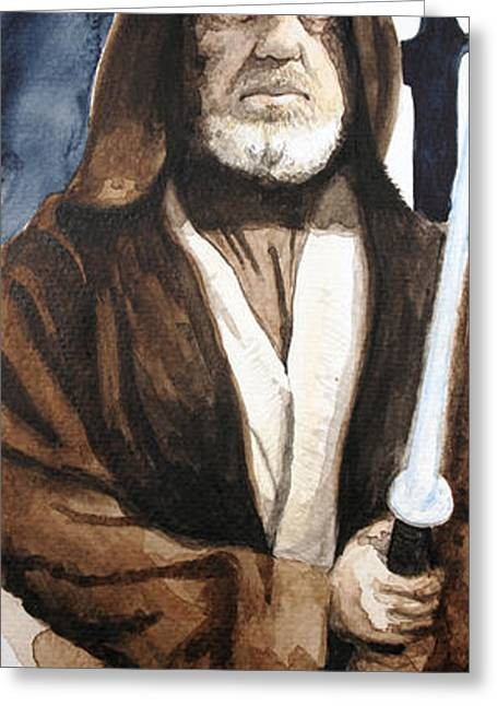 Star Greeting Cards - Obi Wan Kenobi Greeting Card by David Kraig