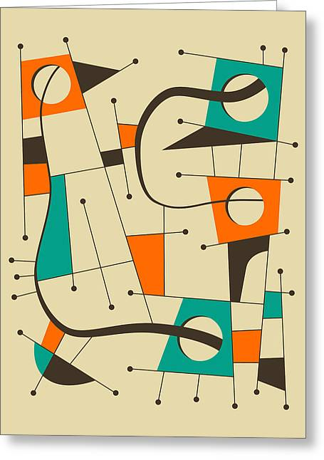 Abstractions Greeting Cards - Objectified 12 Greeting Card by Jazzberry Blue