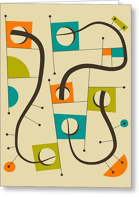 Abstractions Greeting Cards - Objectified #6 Greeting Card by Jazzberry Blue