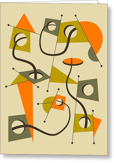 Abstractions Greeting Cards - Objectified 7 Greeting Card by Jazzberry Blue