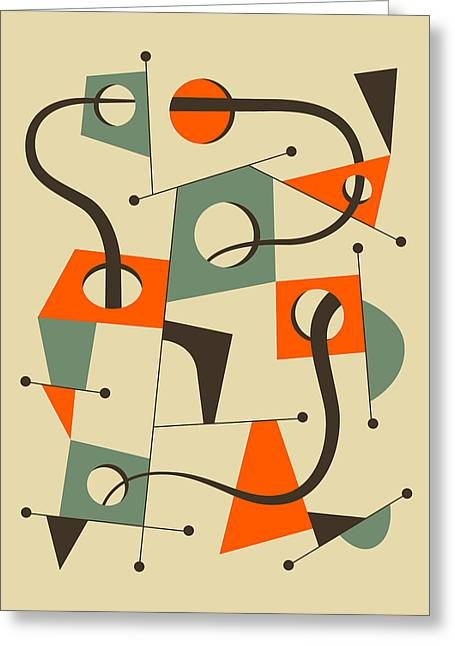 Abstractions Greeting Cards - Objectified 8 Greeting Card by Jazzberry Blue