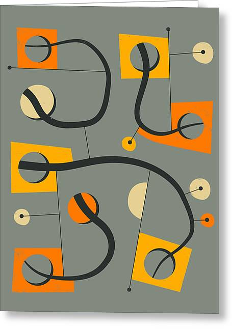 Modern Art Greeting Cards - Objectified 9 Greeting Card by Jazzberry Blue