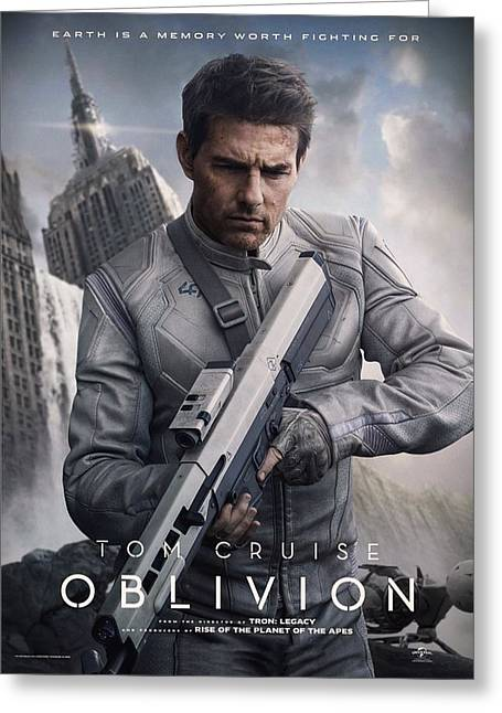 Motion Picture Poster Greeting Cards - Oblivion Tom Cruise Greeting Card by Movie Poster Prints