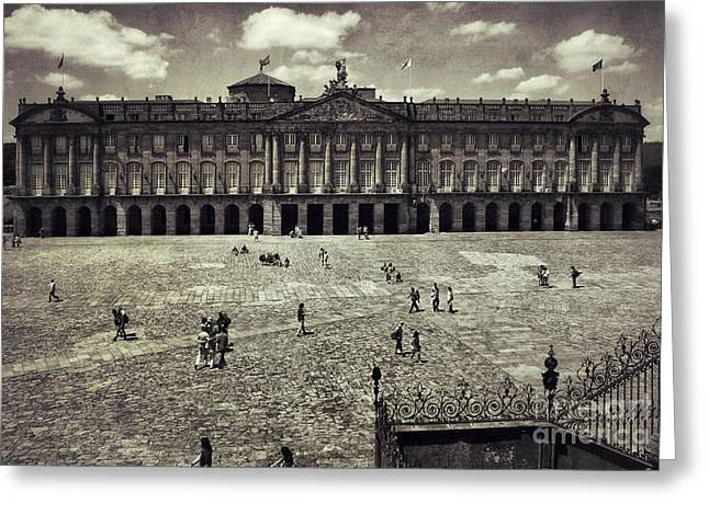 Galicia Greeting Cards - Obradoiro square Rajoy Palace Greeting Card by Guido Montanes Castillo