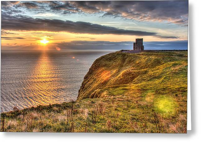 Towering Sea Cliffs Greeting Cards - OBriens Tower Ireland Greeting Card by Pierre Leclerc Photography