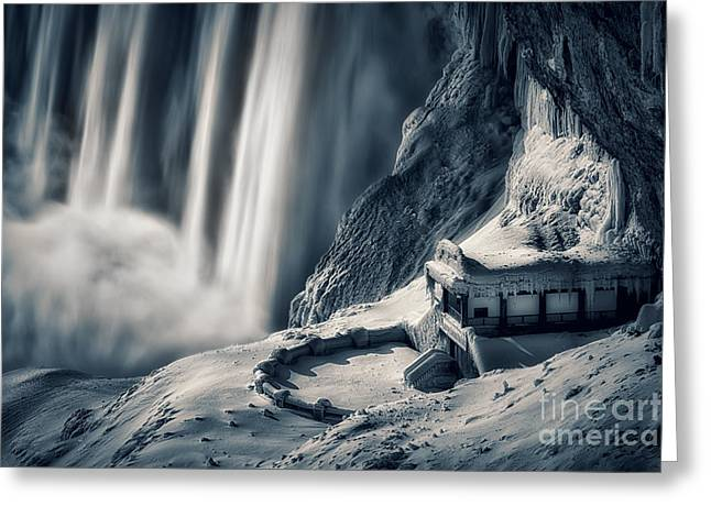Behind The Falls Greeting Cards - Observation Deck Greeting Card by Doug Hagadorn