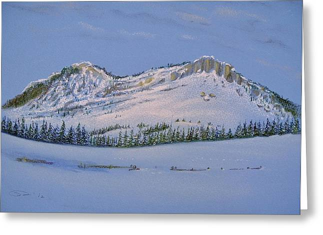 Spring Pastels Greeting Cards - Observation Peak Greeting Card by Michele Myers