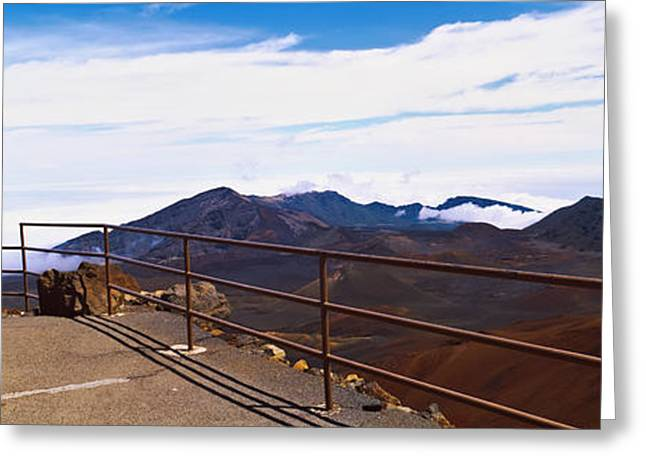 Observation Greeting Cards - Observation Point With Volcanic Crater Greeting Card by Panoramic Images