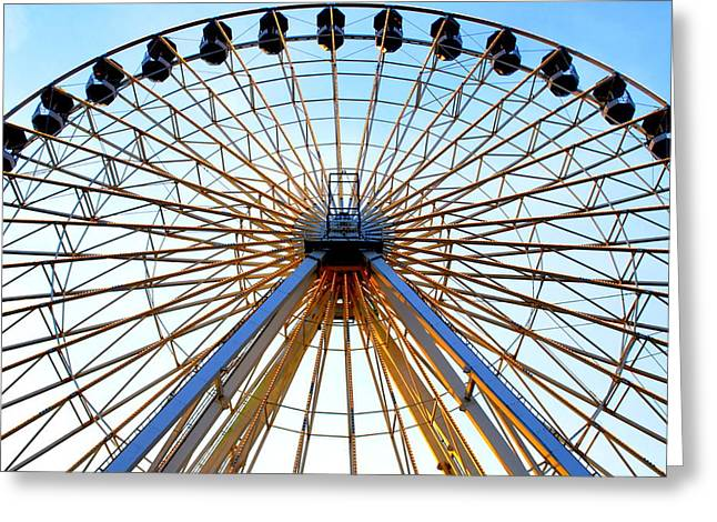 Amusements Greeting Cards - Observation Wheel Greeting Card by Mary Beth Landis