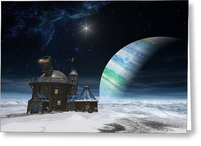Observatory Greeting Cards - Observatory Greeting Card by Cynthia Decker
