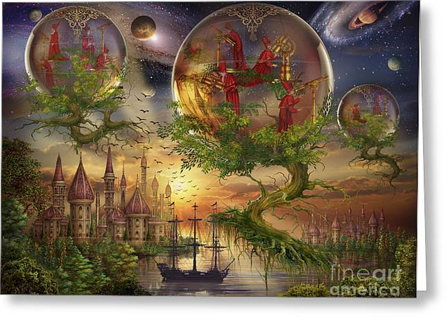 Magical Tree Greeting Cards - Observer Trees Greeting Card by Ciro Marchetti