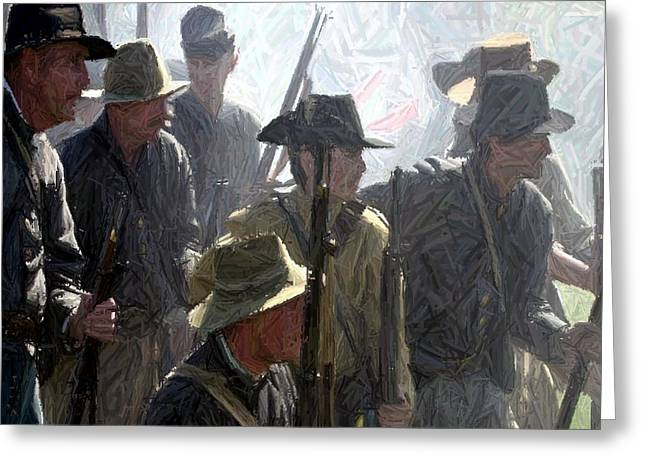 150th Commemoration Digital Art Greeting Cards - Observing and Awaiting Orders - Perryville KY Greeting Card by Thia Stover