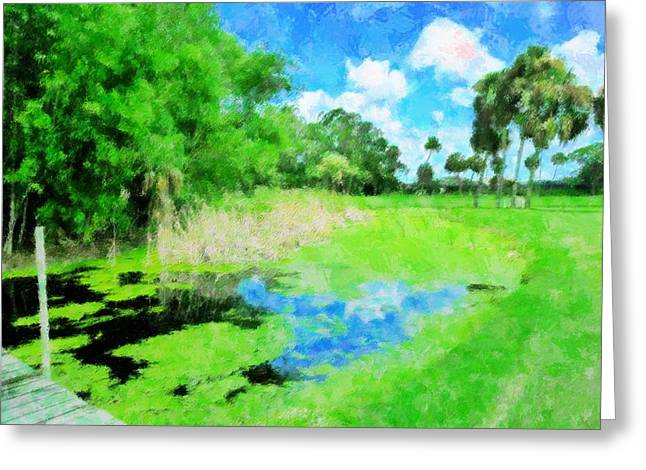 Sea Oats Mixed Media Greeting Cards - Obstacle On the Course Greeting Card by Florene Welebny