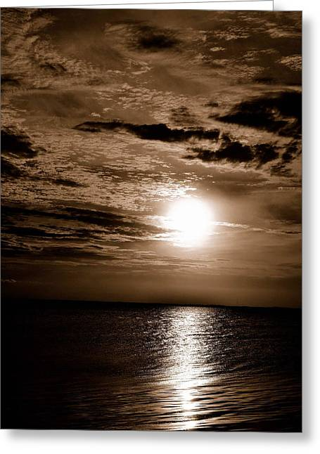 Beach Greeting Cards - OBX Sunset Greeting Card by James Chesnick