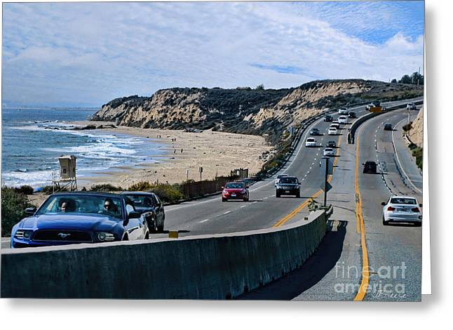 Coast Hwy Ca Greeting Cards - Oc On Pch In Ca Greeting Card by Jennie Breeze