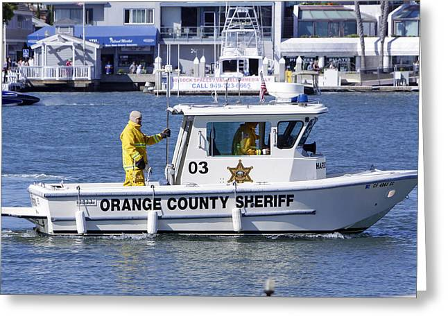Oc Sheriff Ready For The Fire Greeting Card by Shoal Hollingsworth