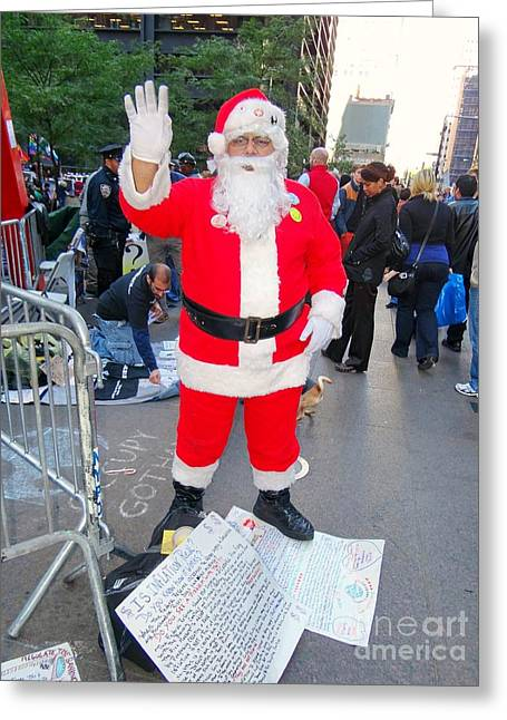 Occupy Greeting Cards - Occupy Santa Greeting Card by Ed Weidman